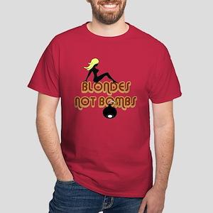 Blondes Not Bombs Dark T-Shirt