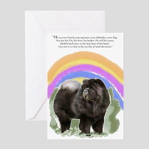 black chow portrait Greeting Card