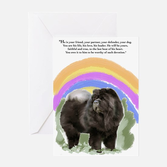 black chow portrait Greeting Card