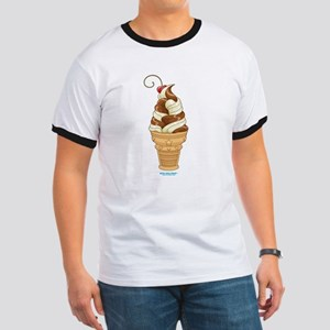 Chocolate & Vanilla Ice Cream Ringer T