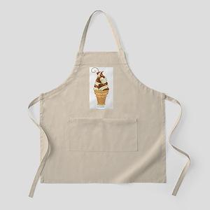 Chocolate & Vanilla Ice Cream BBQ Apron