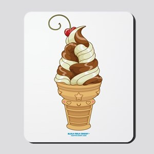 Chocolate & Vanilla Ice Cream Mousepad