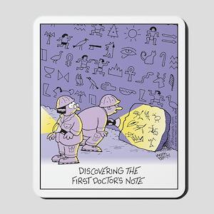 Prehistoric Doctor Prescription Mousepad