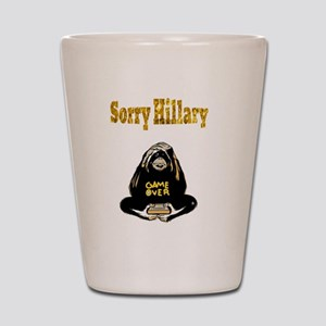 Lock Her Up Game Over Hillary 7 Shot Glass
