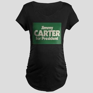Carter for President Maternity Dark T-Shirt