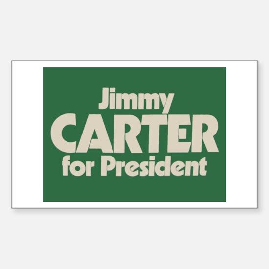Carter for President Rectangle Decal