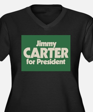 Carter for President Women's Plus Size V-Neck Dark