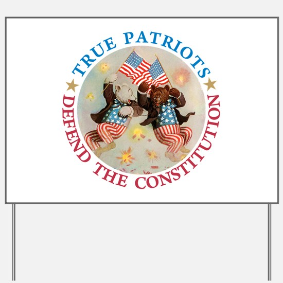 PATRIOT BEARS Yard Sign