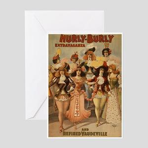 Hurly Burly Vaudeville Greeting Card