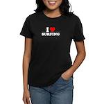 I Love Surfing - Women's Dark T-Shirt