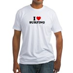 I Love Surfing - Fitted T-Shirt