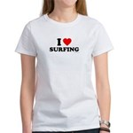 I Love Surfing - Women's T-Shirt