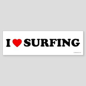 I Love Surfing - Bumper Sticker