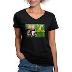 Team Larson Women's V-Neck Dark T-Shirt