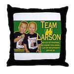 Team Larson Throw Pillow