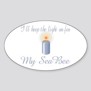 ill keep the light Oval Sticker