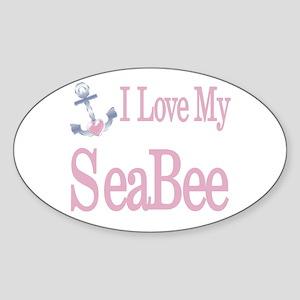 i love my seabee Oval Sticker