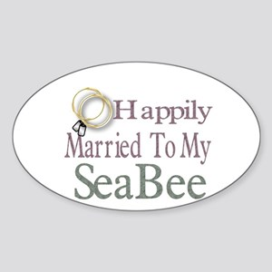 happily married Oval Sticker