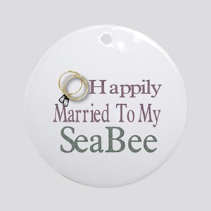 happily married Ornament (Round)