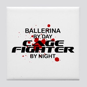 Ballerina Cage Fighter by Night Tile Coaster