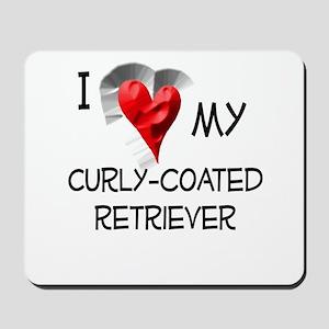 Curly-Coated Retriever Mousepad