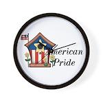 American Pride - Birdhouse Wall Clock