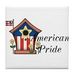 American Pride - Birdhouse Tile Coaster