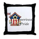 American Pride - Birdhouse Throw Pillow