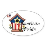 American Pride - Birdhouse Oval Sticker