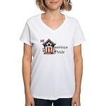 American Pride - Birdhouse Women's V-Neck T-Shirt