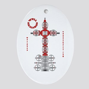 Well Services Oval Ornament