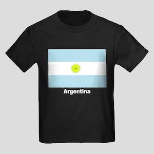 Argentina Flag Kids Dark T-Shirt