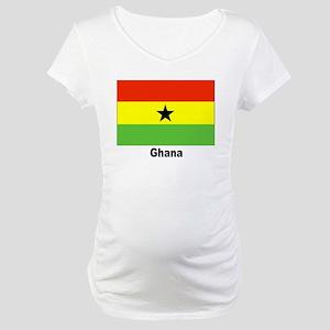 Ghana Flag Maternity T-Shirt