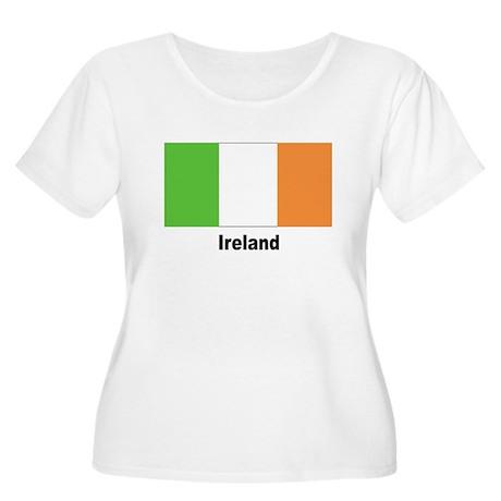 Ireland Irish Flag Women's Plus Size Scoop Neck T-
