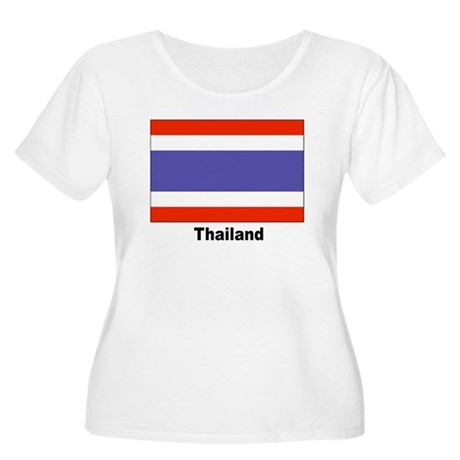 Thailand Thai Flag Women's Plus Size Scoop Neck T-