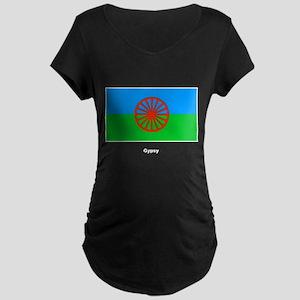 Gypsy Flag Maternity Dark T-Shirt