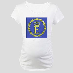 Queen Elizabeth II Flag Maternity T-Shirt