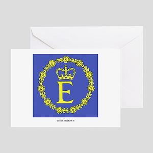 Queen Elizabeth II Flag Greeting Card