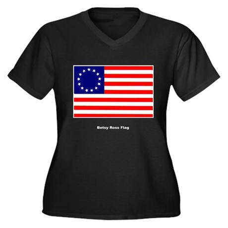 Betsy Ros US Historical Flag Women's Plus Size V-N