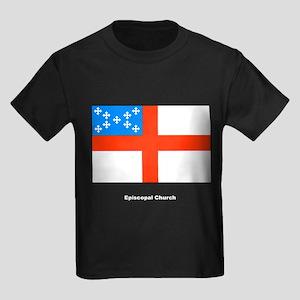 Episcopal Church Flag Kids Dark T-Shirt