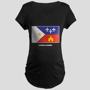 Louisiana Acadian Flag Maternity Dark T-Shirt