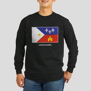 Louisiana Acadian Flag Long Sleeve Dark T-Shirt