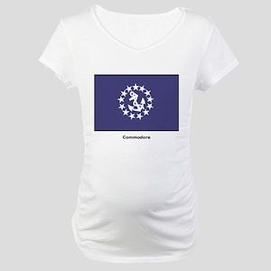 Commodore Flag Maternity T-Shirt