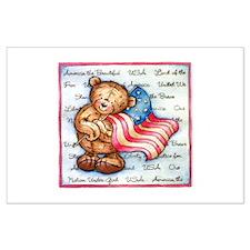 American Bear Large Poster