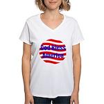 God Bless America Women's V-Neck T-Shirt