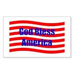 God Bless America Rectangle Sticker 50 pk)