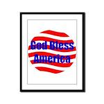 God Bless America Framed Panel Print