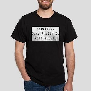 Guns Kill People Ash Grey T-Shirt