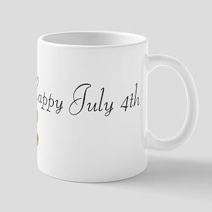 Happy 4th - Little Boy with F Mug
