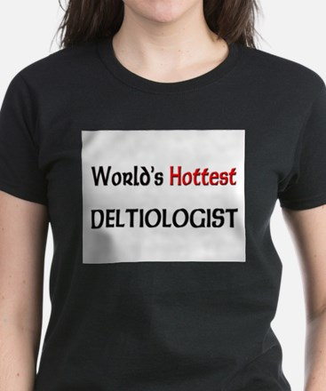 World's Hottest Deltiologist Women's Dark T-Shirt